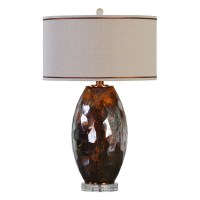 Uttermost Lamps 27132-1 Sabastian Bronze Glass Table Lamp ...