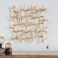 Alternative Wall Decor Golden Gymnasts Wall Art | Becker ...