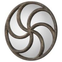 Mirrors Spiralis Antiqued Silver Round Mirror | Becker ...