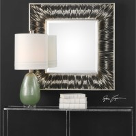 Mirrors Jacenia Silver Square Mirror