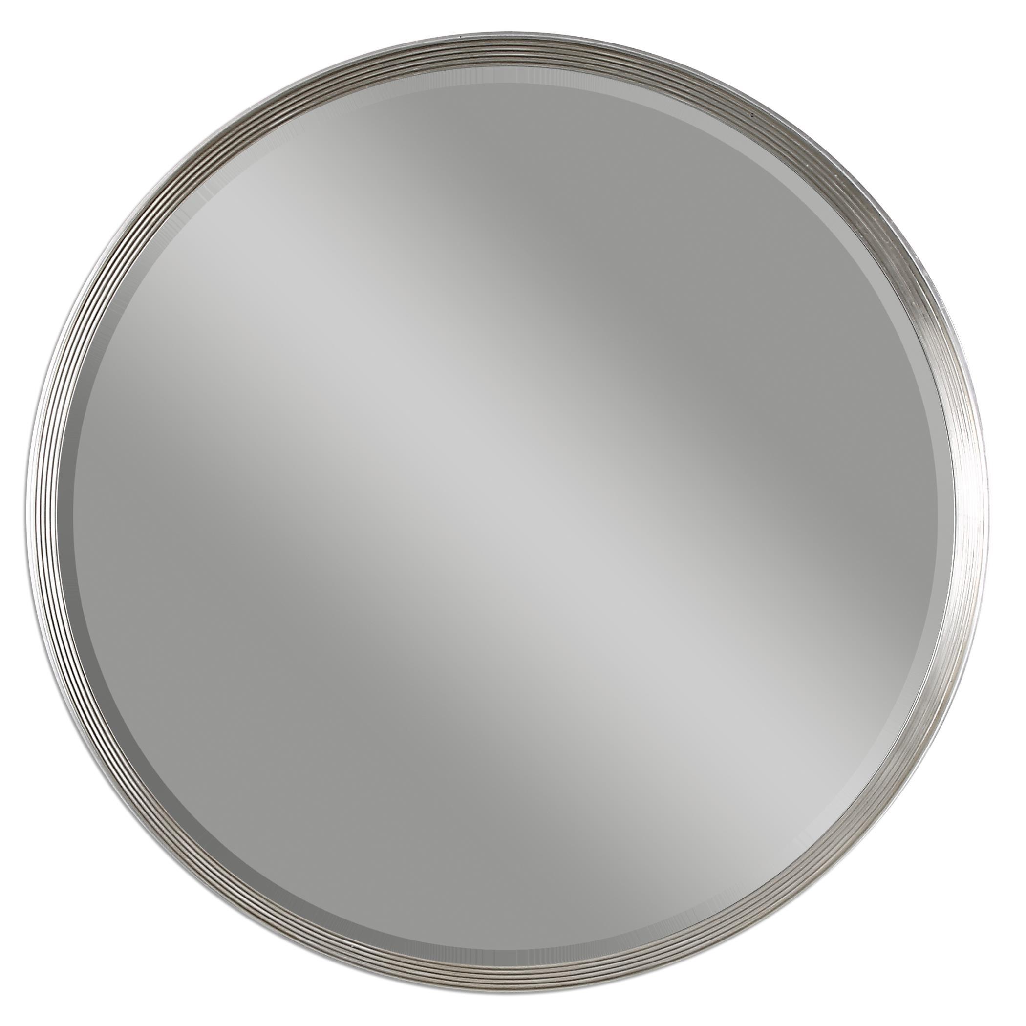Uttermost Mirrors Serenza Round Silver Mirror
