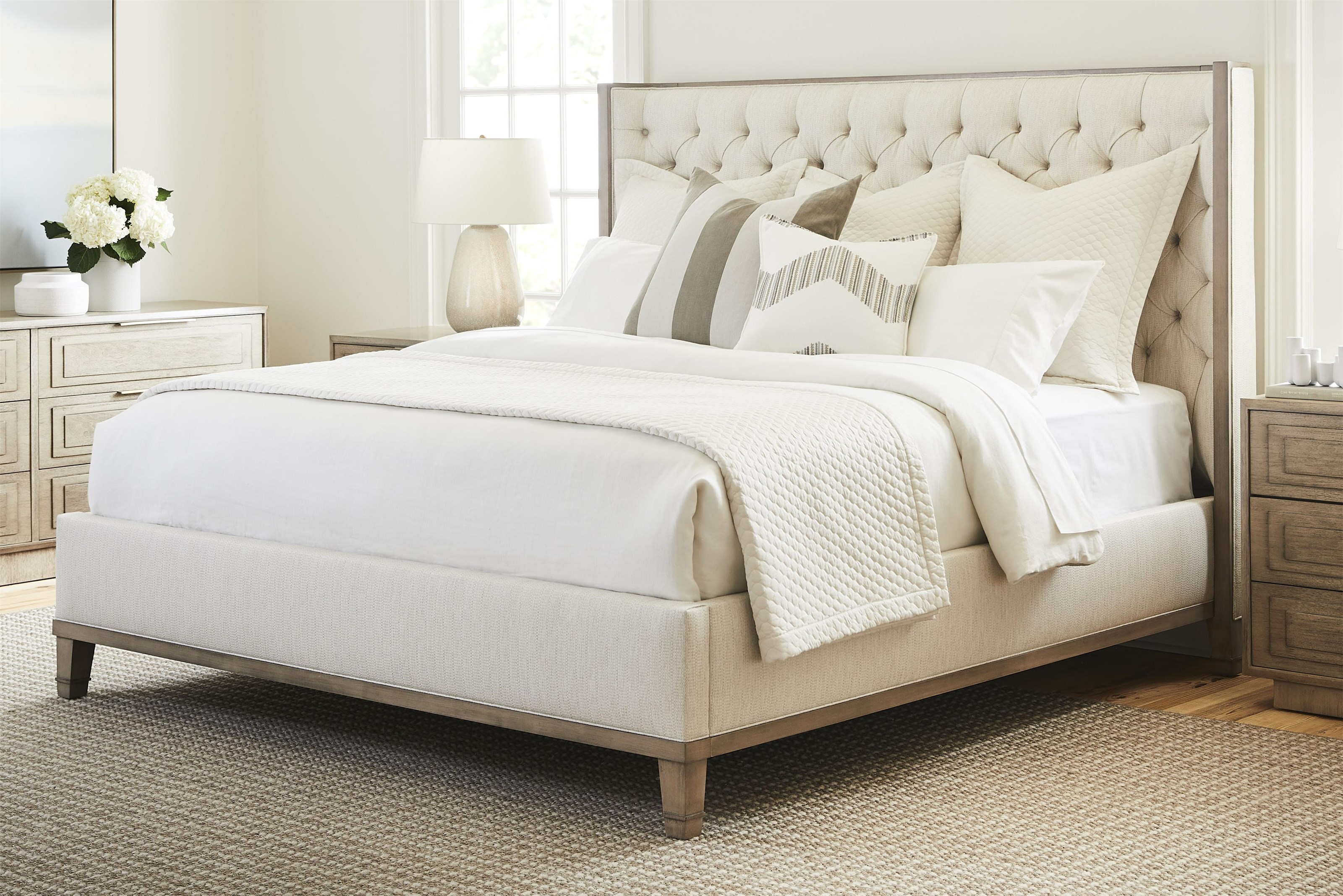 bowers michael weiss king tufted headboard bed