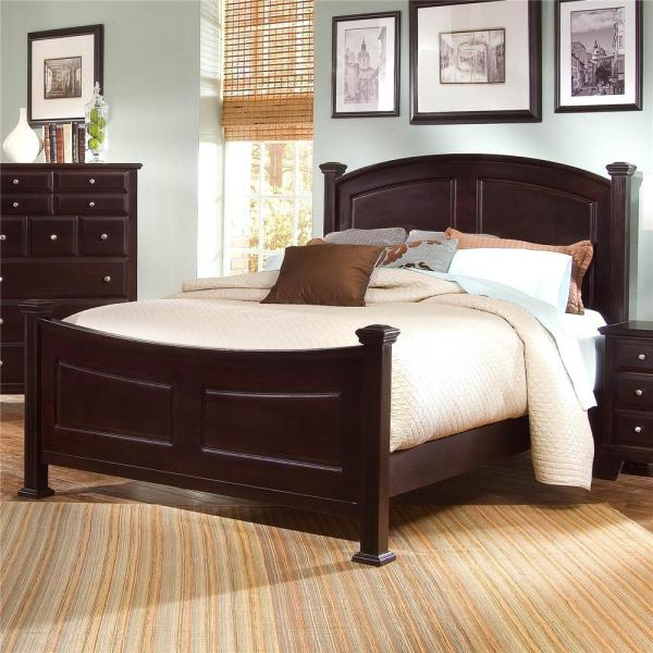 Vaughan Bassett Hamilton Franklin Queen Panel Bed Hudson