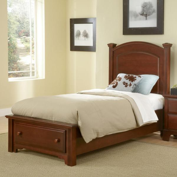 Vaughan Bassett Hamilton Franklin Twin Panel Storage Bed