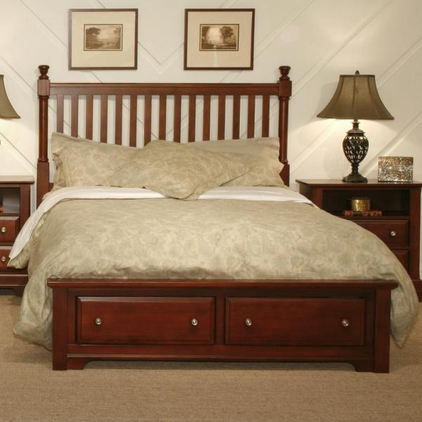 Vaughan Bassett Cottage Queen Slat Storage Bed Dunk