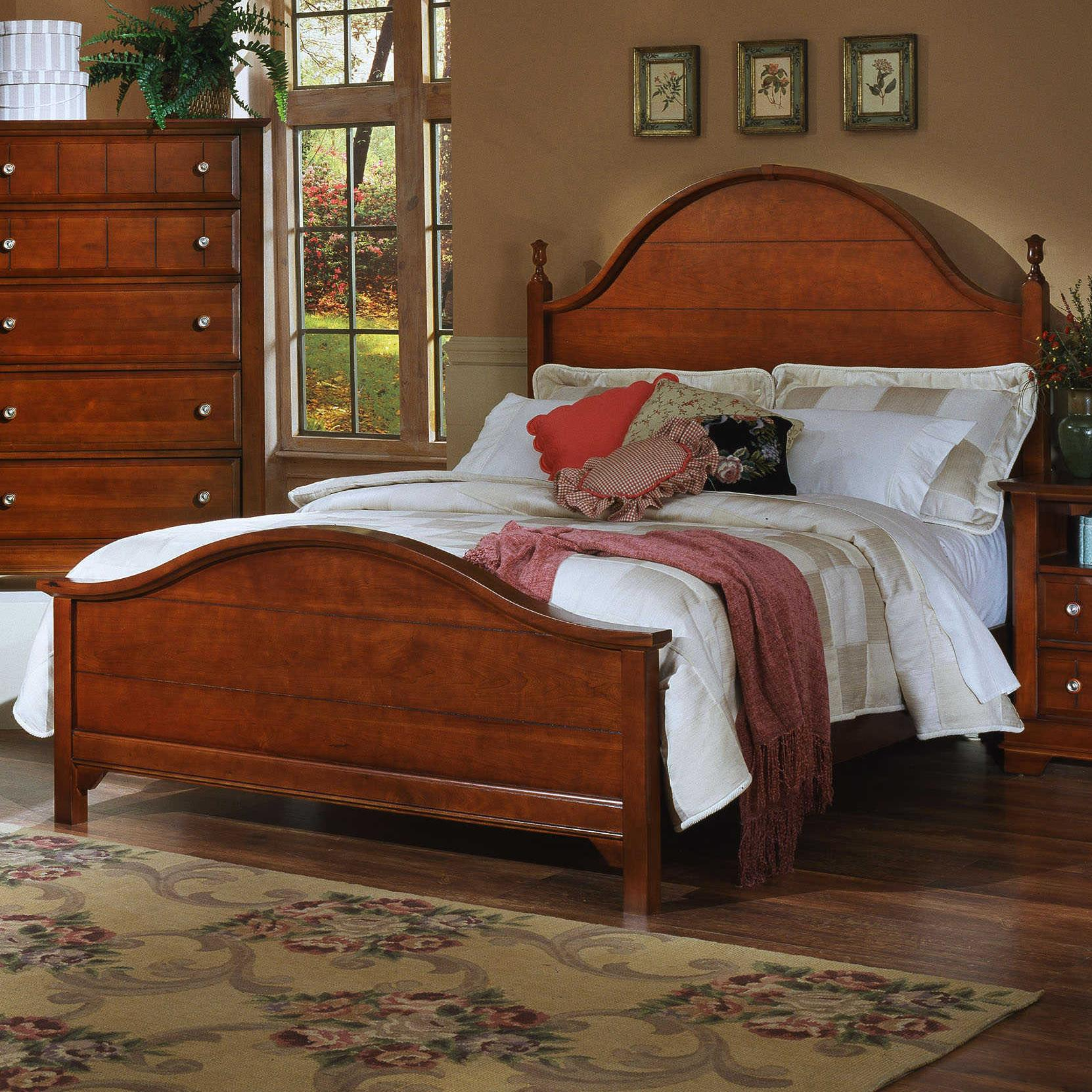 Vaughan Bassett Cottage Queen Panel Bed  Knight Furniture