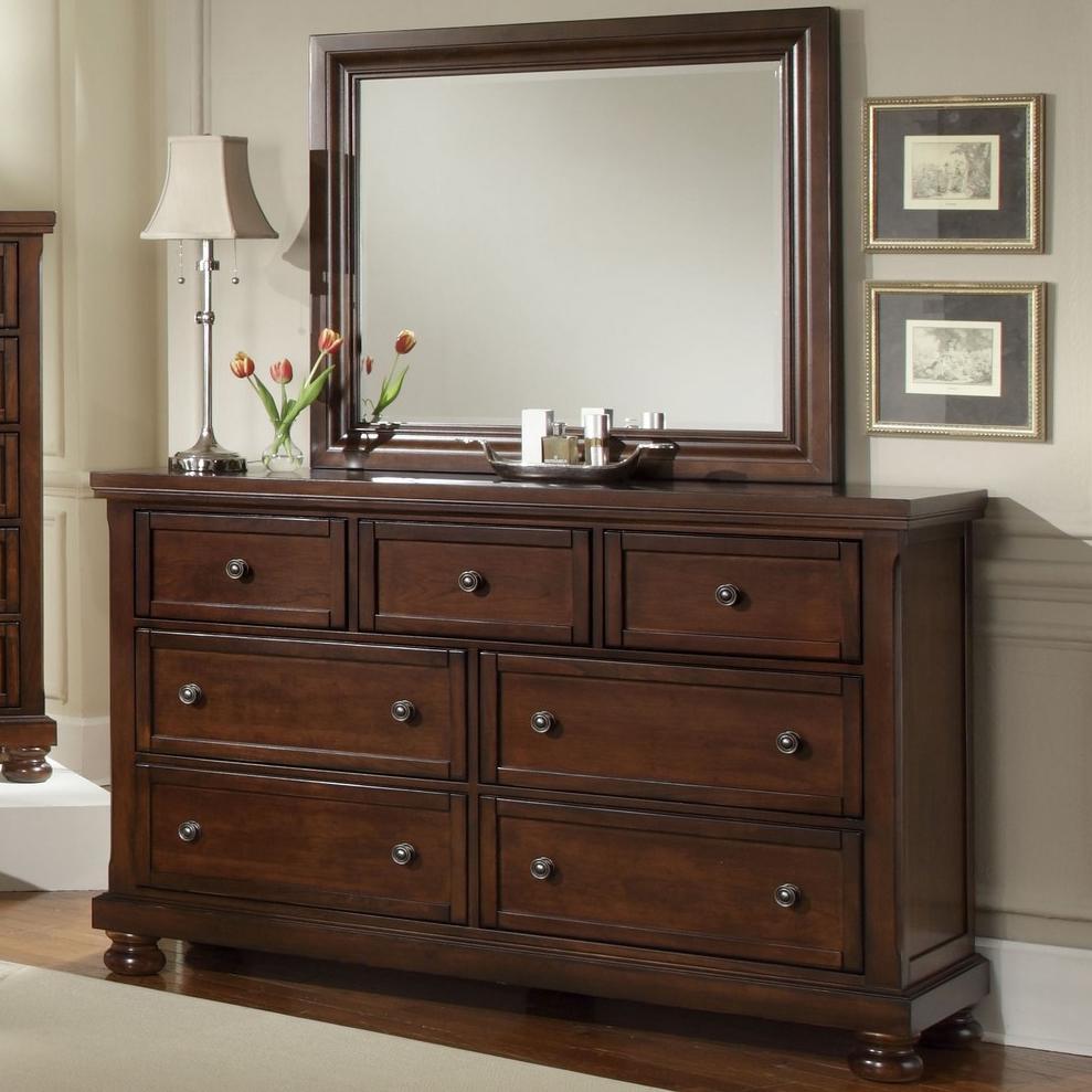 Vaughan Bassett Reflections 7 Drawer Dresser and Mirror Combination  Belfort Furniture