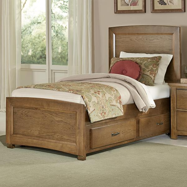 Vaughan Bassett Transitions Twin Panel Bed With Trundle