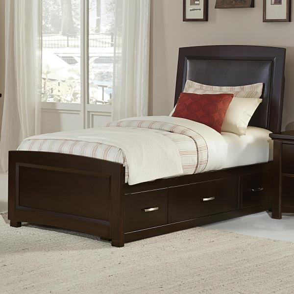 Vaughan Bassett Transitions Twin Upholstered Bed