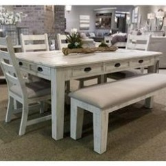 Dining Set With Bench And Chairs Air Chair Stand Table Sets Great American Home Store Leg 4 Side