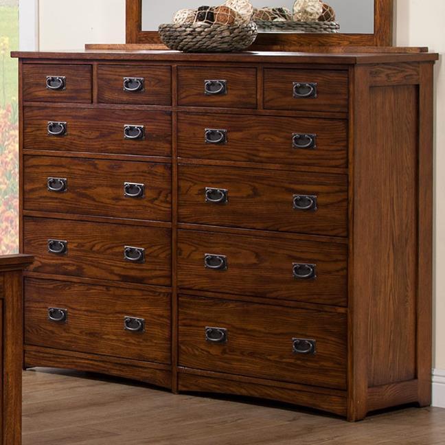 Winners Only Colorado BCQ1006 Tall 12Drawer Dresser  Dunk  Bright Furniture  Dressers