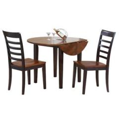 3 Piece Table And Chair Set Rocker With Speakers Winners Only Contemporary Farmhouse Drop Leaf Dunk Bright Furniture Dining Sets
