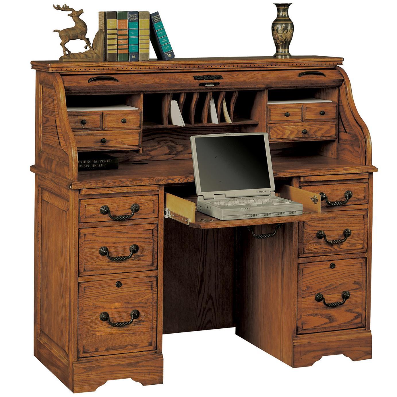 Winners Only Heritage Oak H148RRTA 48 Rolltop Desk with