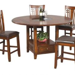 Tall Round Kitchen Table And Chairs Hanging Chair Amazon Winners Only Zahara 5 Piece Mission Style Pub Barstools