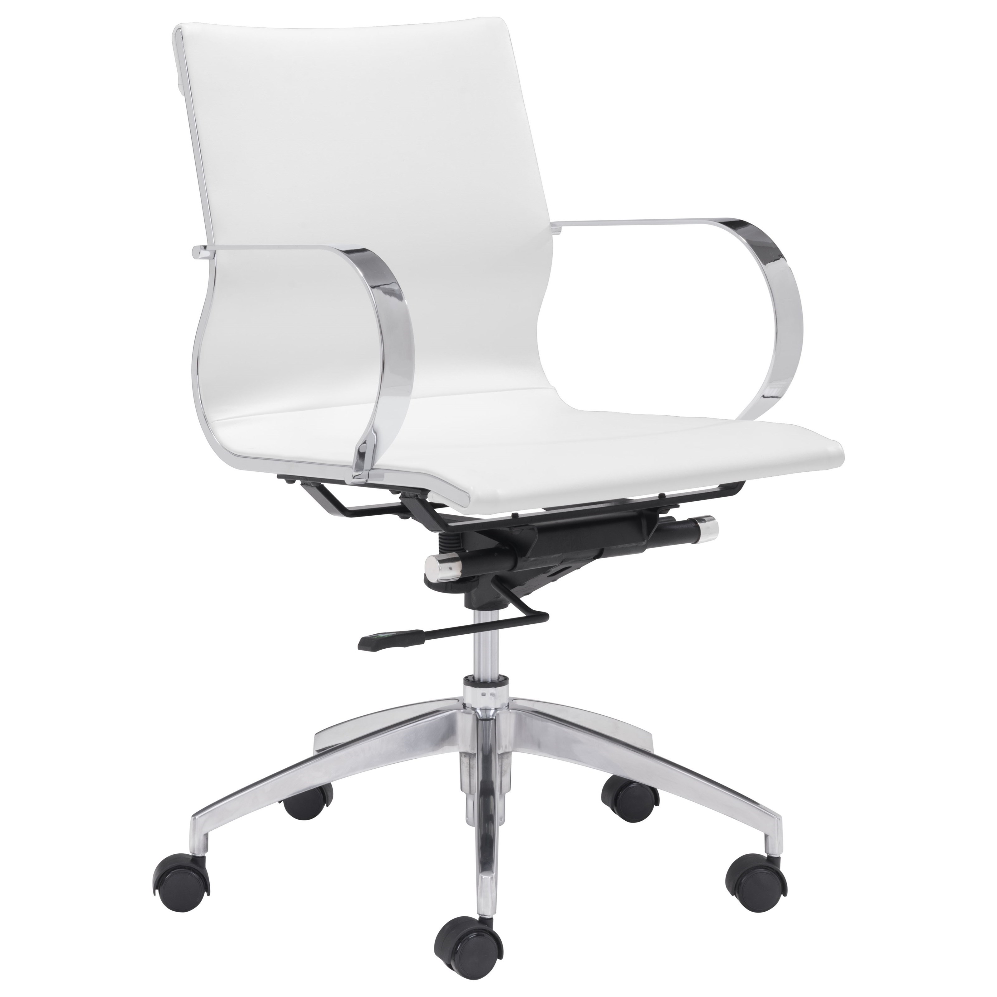 Low Back Office Chair Glider Low Back Office Chair By Zuo At Royal Furniture