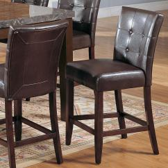 Upholstered Counter Height Chairs Made To Order Acme Furniture Canville 07055 With