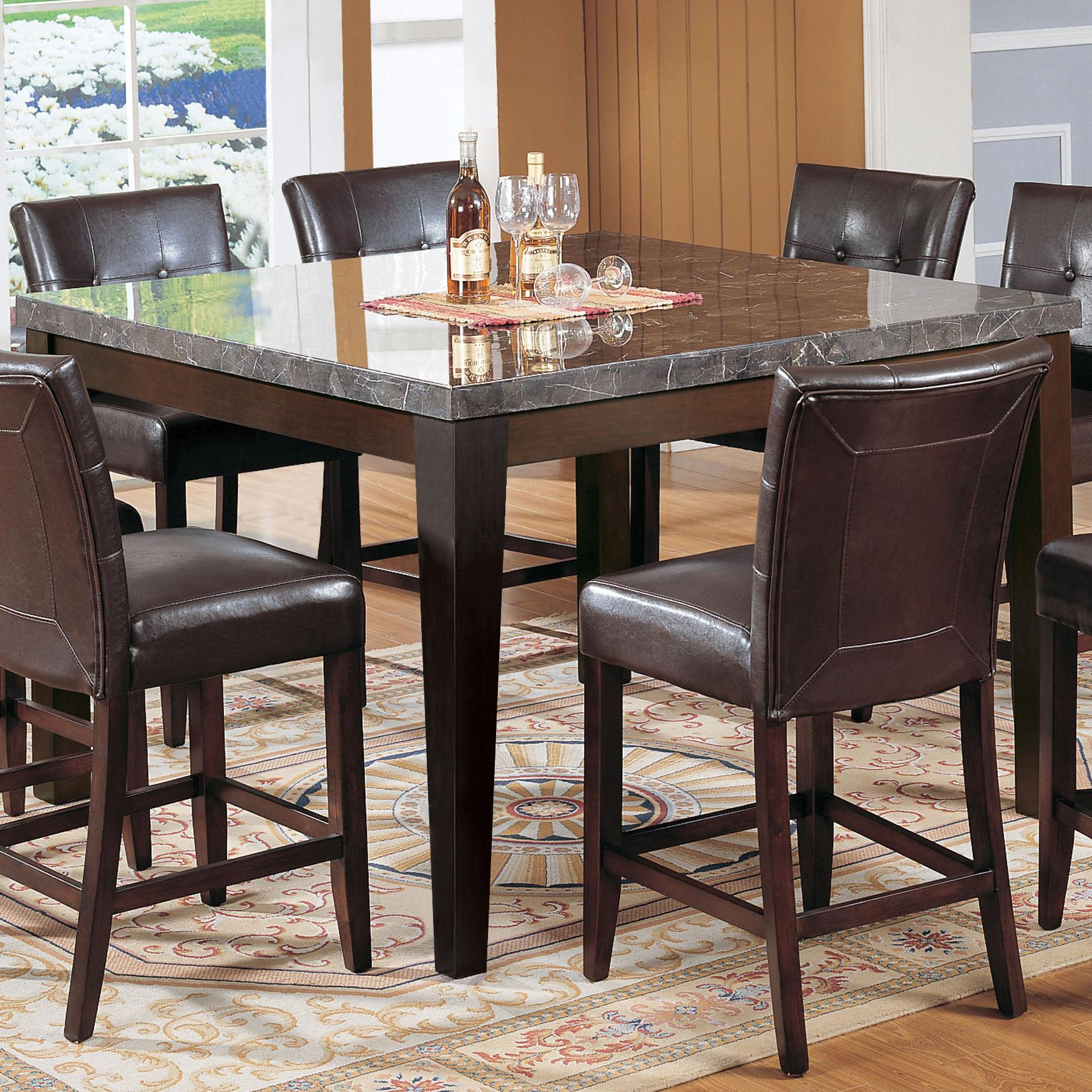 marble top table with 4 chairs folding and set acme furniture canville 07059 counter