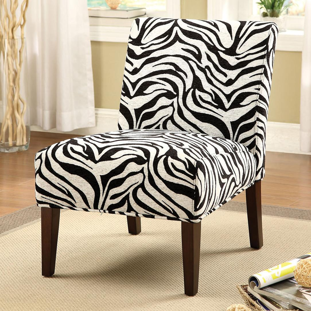 Zebra Accent Chair Acme Furniture Aberly 59152 Accent Chair In Zebra Print