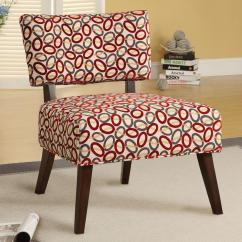 Geometric Accent Chair White River Lawn Concert Chairs Acme Furniture Able 59074 Armless With