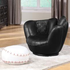 Baseball Leather Sofa Carlyle Reviews Acme Furniture All Star 05522 Sports Themed Black
