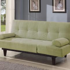 Atherton Home Soho Convertible Futon Sofa Bed And Lounger Lazyboy Sectional Sofas Acme Furniture Cybil Apple Green Adjustable