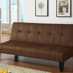 Acme Sectional Sofa Chocolate Brown Leather Futon Bed Furniture Emmet Choc 05674 Adjustable