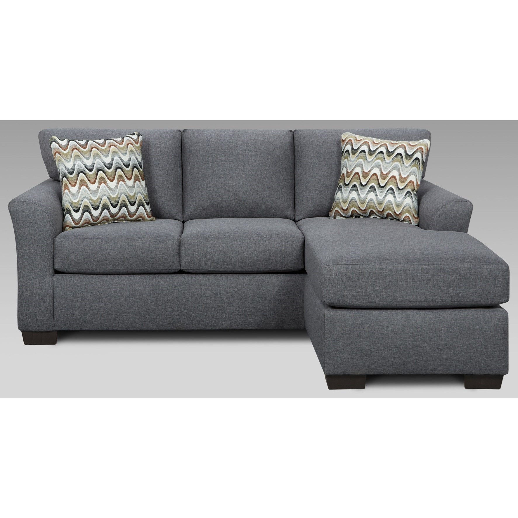 cosmo sofa diy wooden table transitional with chaise and flared arms