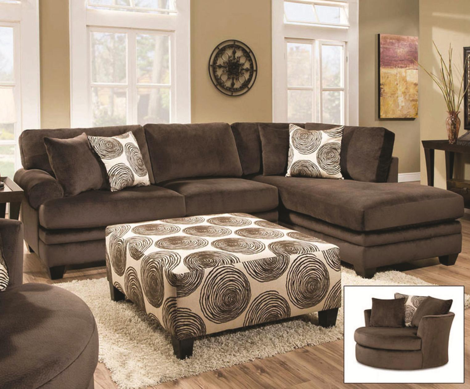 8642 transitional sectional sofa with chaise by albany extra large sofas