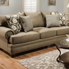 Albany Leather Sofa Genuine Fusion Platinum Great American