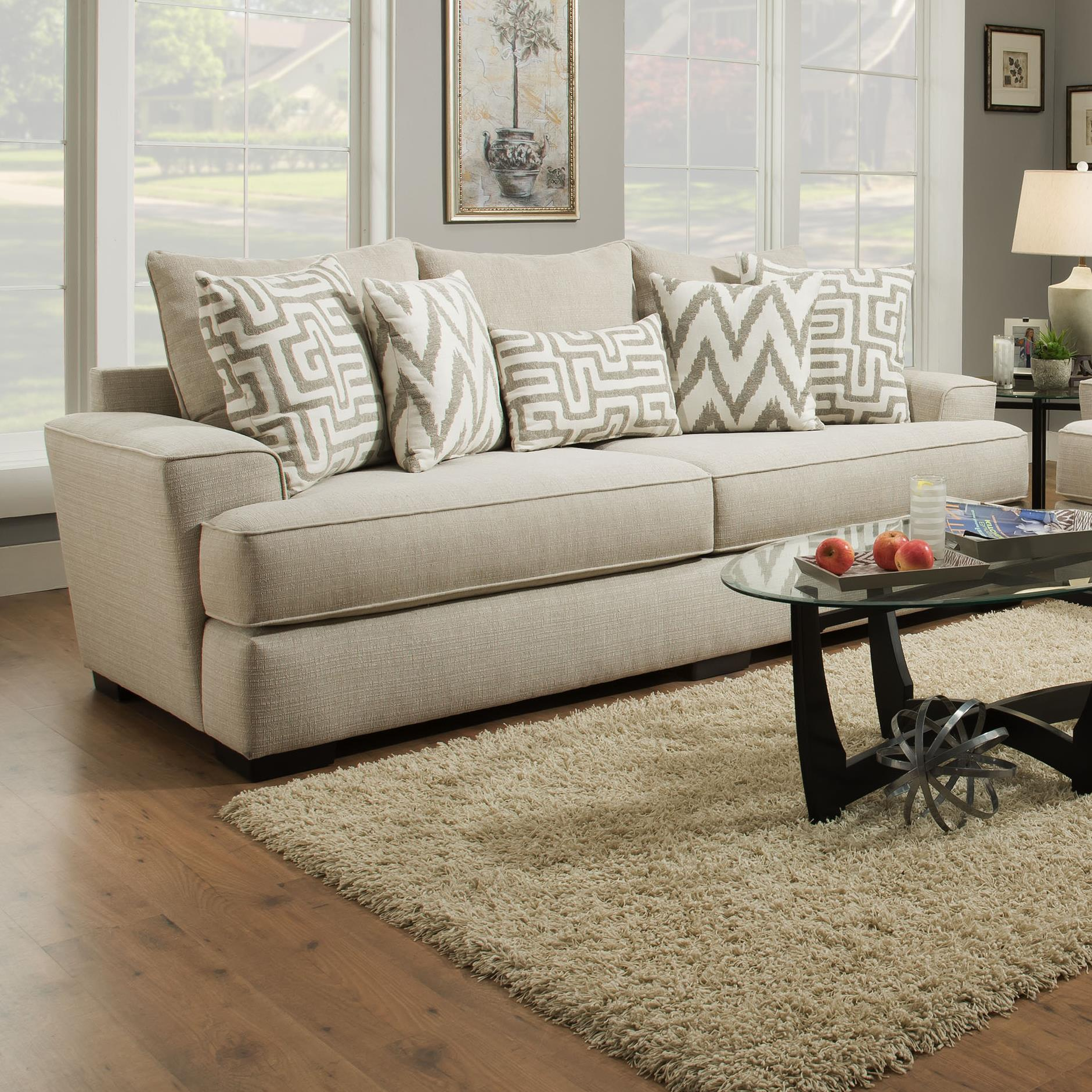 8642 transitional sectional sofa with chaise by albany bed linens simmons upholstery pewter