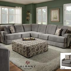 8642 Transitional Sectional Sofa With Chaise By Albany Build A Online 348 Laredo Contemporary 2