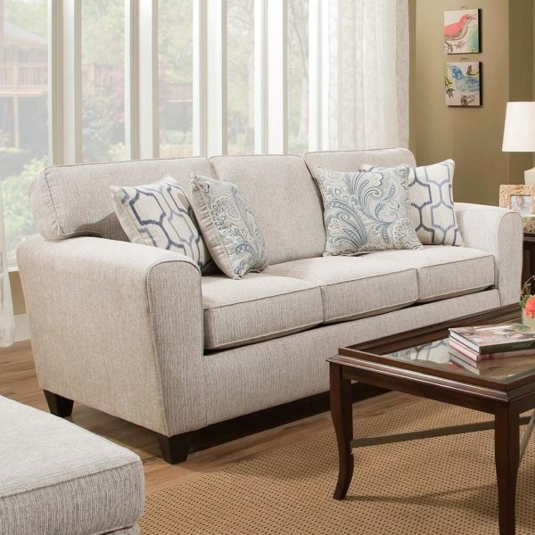american furniture sofas living room American Furniture Uptown 3103-2760 Ecru Sofa with Casual