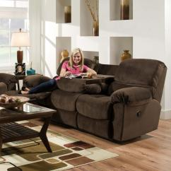 Double Reclining Sofa With Fold Down Table Sofas That Recline American Furniture Af310 Casual Power