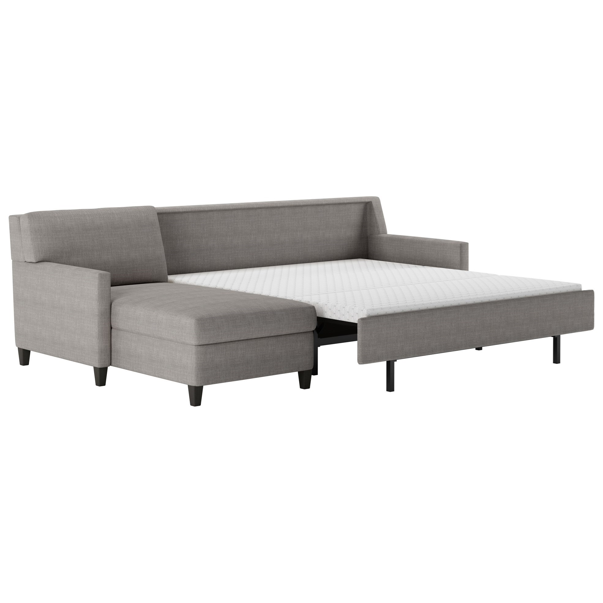 right arm sleeper sofa leather full american conley two piece sectional with
