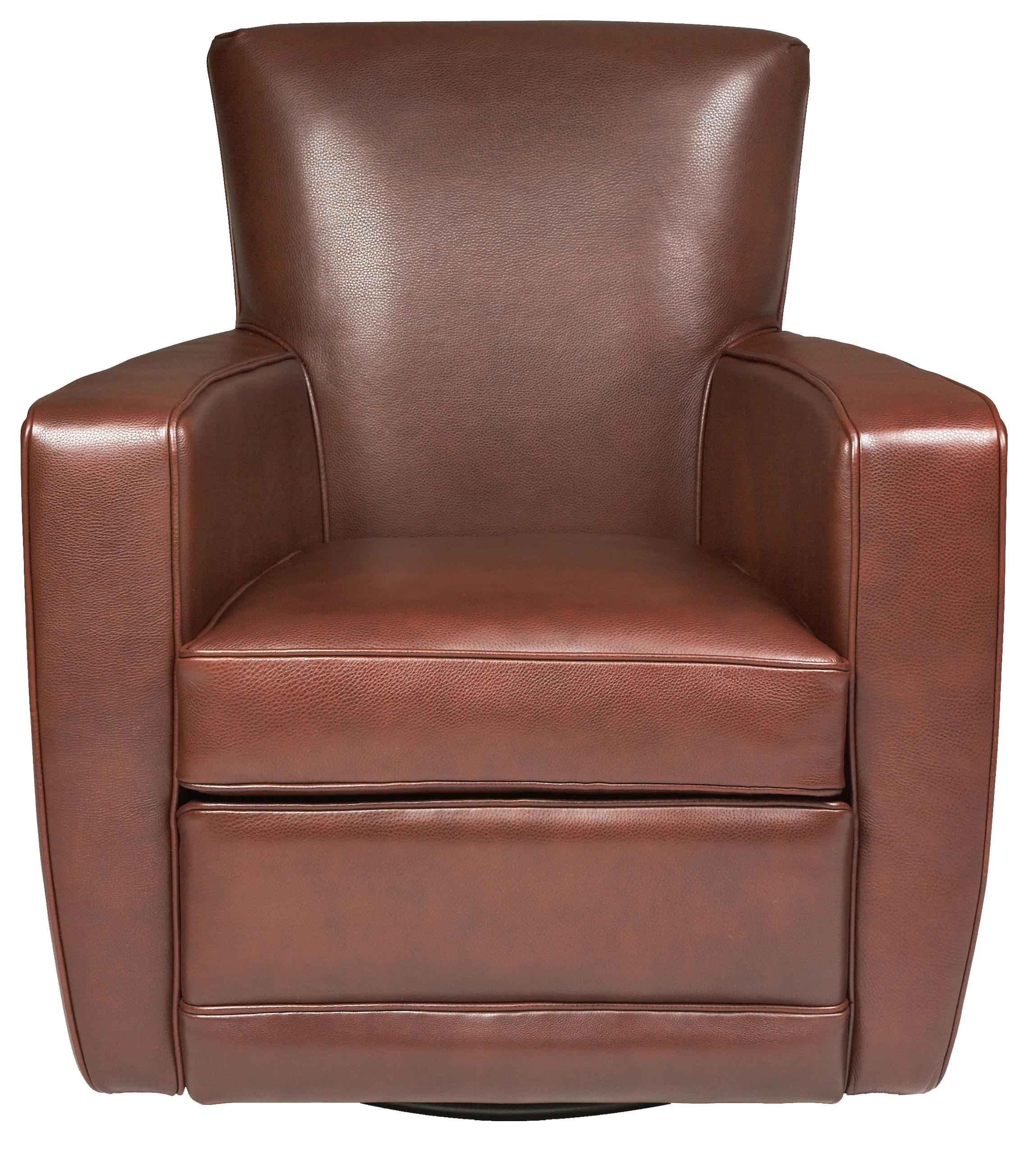 Contemporary Swivel Chairs American Leather Ethan Contemporary Swivel Accent Chair
