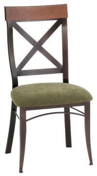 Amisco Countryside Kyle Kitchen Side Chair in Rustic ...