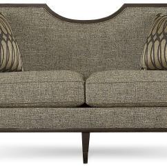 Sofa Wood Frame Exposed Uk Monster High Bed A R T Furniture Inc Harper Mineral Transitional