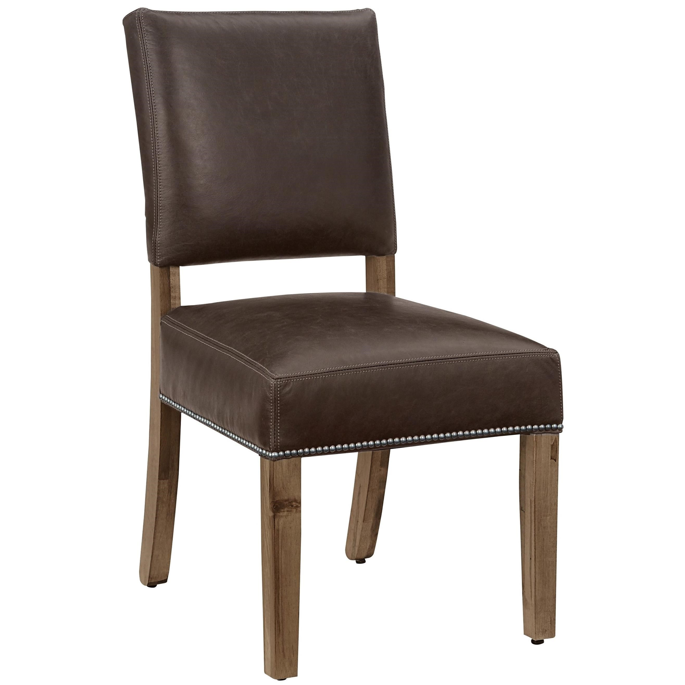 Leather Dining Chairs With Nailheads Artisan And Post Simply Dining Maple Dining Side Chair With
