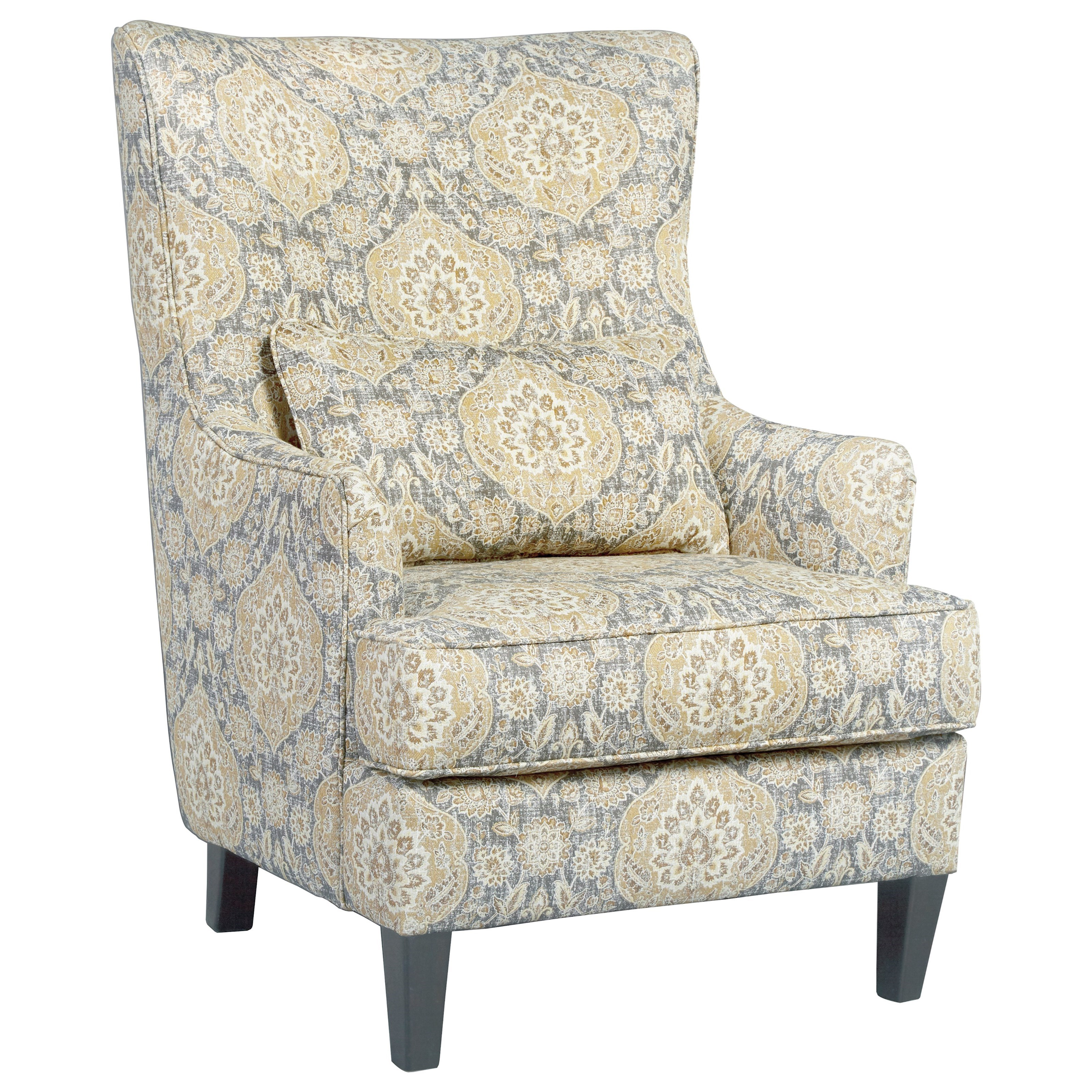 Ashley Furniture Accent Chair Ashley Furniture Aramore 1280522 Scalloped Wingback Accent