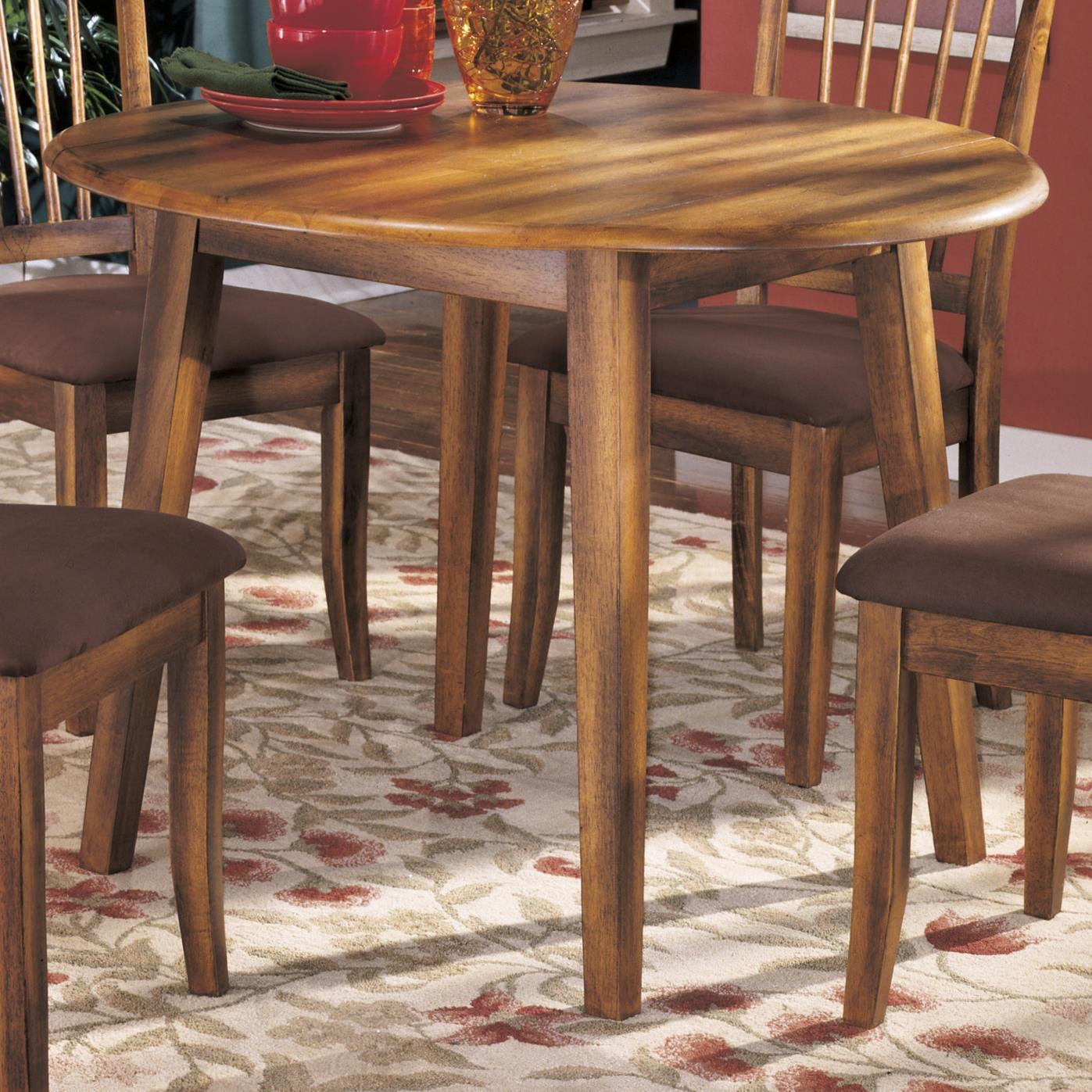 ashley furniture kitchen table and chairs chip cabinets berringer hickory stained hardwood round