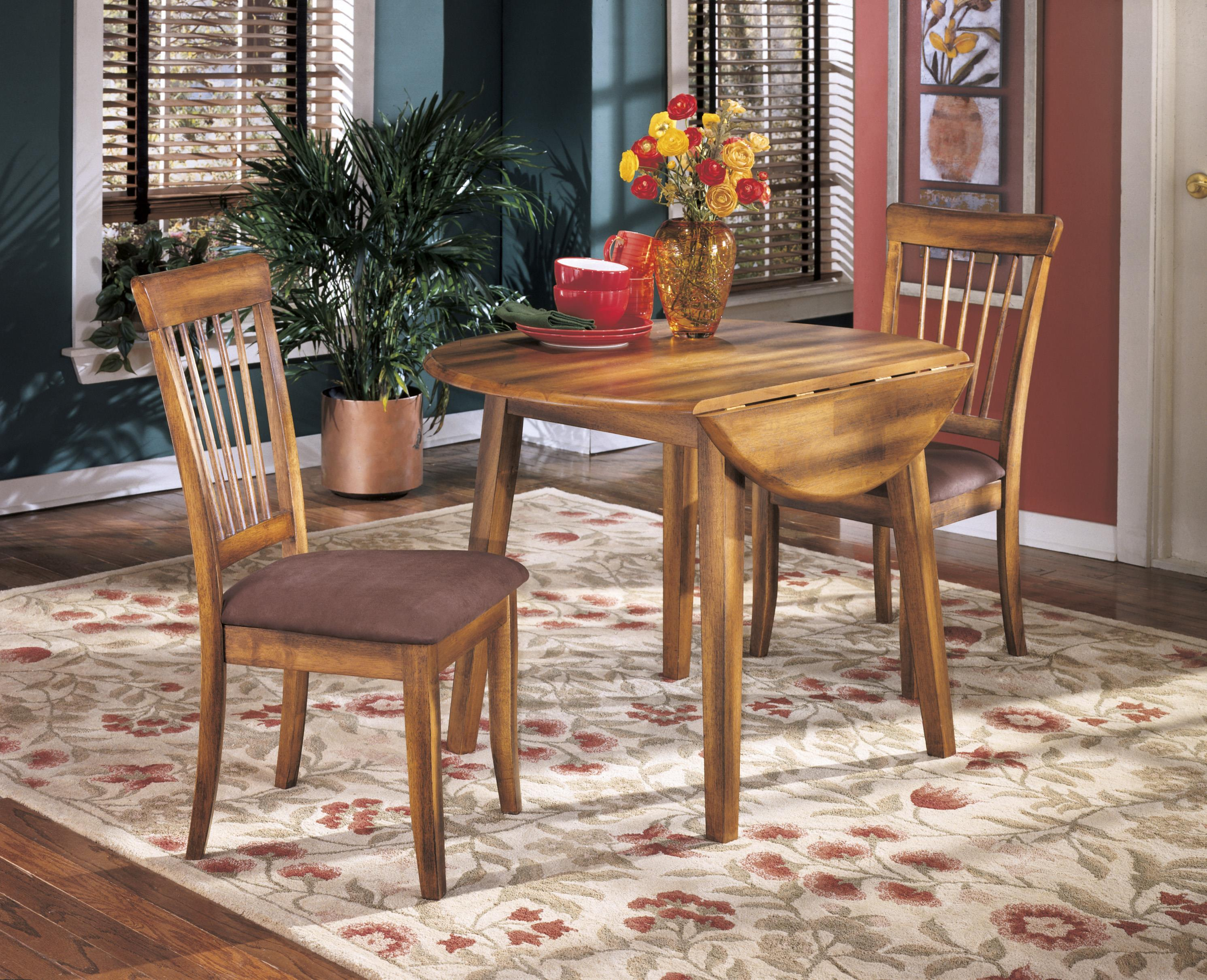 ashley furniture kitchen table and chairs sit stand chair reviews berringer hickory stained hardwood round