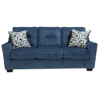 [ashley furniture blue sofa]