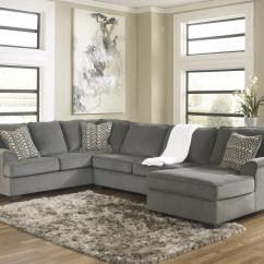Ashley Cohes Sofa Chaise Best Sleeper Sofas Toronto Furniture Loric Smoke Contemporary 3 Piece