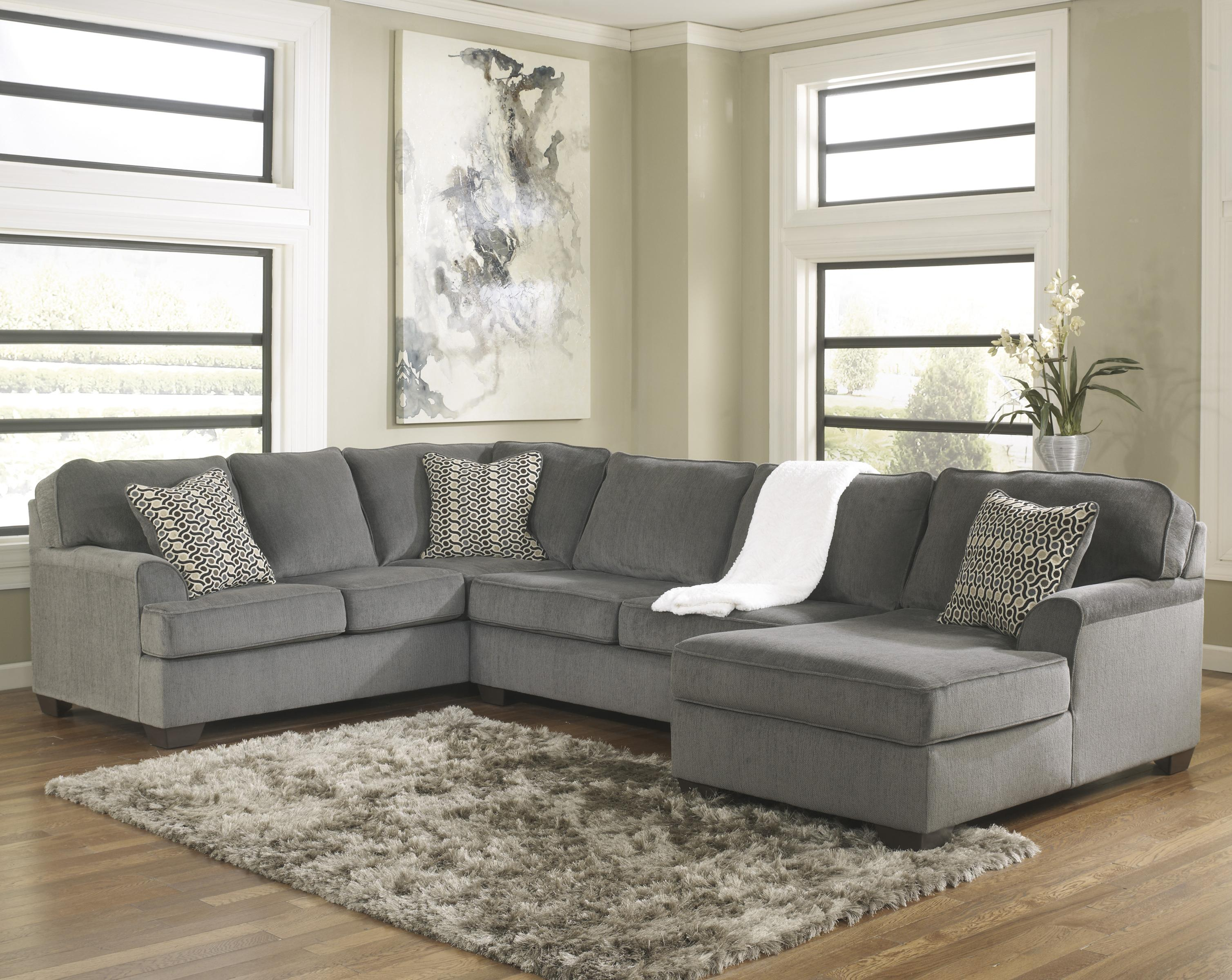 sectional vs sofa alessia leather ashley furniture loric smoke contemporary 3 piece