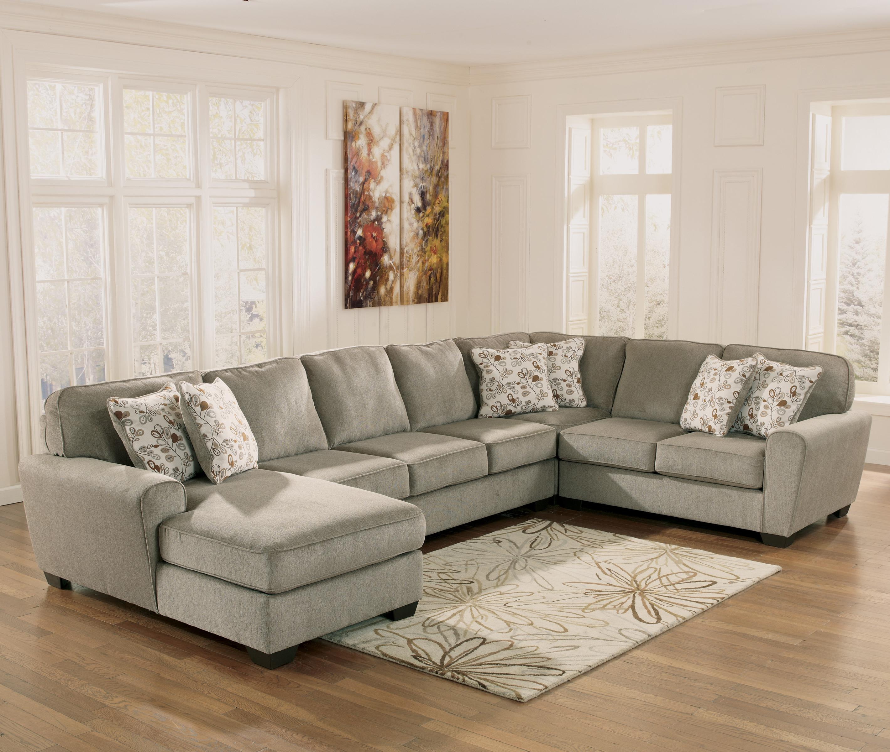 ashley cohes sofa chaise types of sofas images furniture patola park patina 4 piece sectional