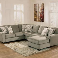 Ashley Cohes Sofa Chaise Small Semi Circle Furniture Patola Park Patina 4 Piece