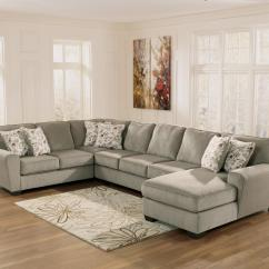 Ashley Cohes Sofa Chaise Costco Leather Review Furniture Patola Park Patina 4 Piece Sectional