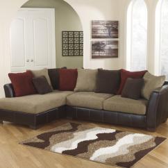Ashley Furniture Morandi Mocha Sofa Great Leather Sofas Sanya 2 Piece Sectional With Left