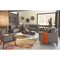 Ashley Furniture Zardoni Mid-Century Modern Sofa | Value ...