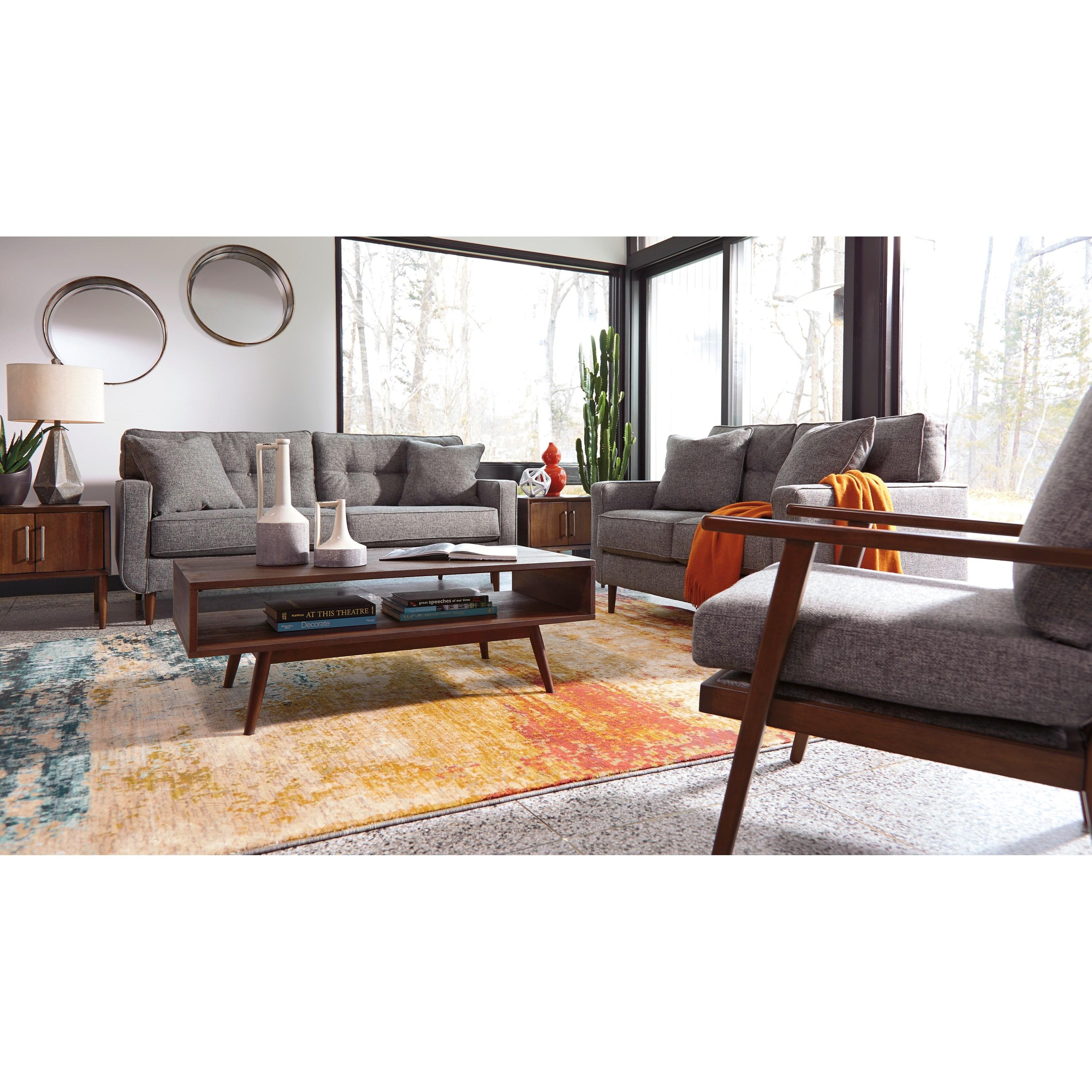 ashley furniture modern sofa set in johor bahru zardoni mid century olinde